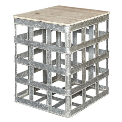 Lewis Galvanized Metal Side Table