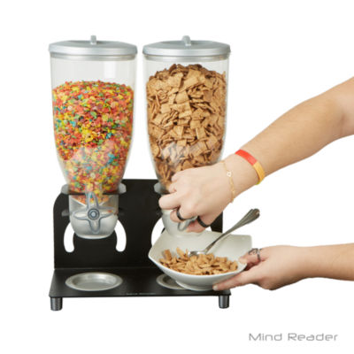 Mind Reader Metal Double Cereal Dispenser
