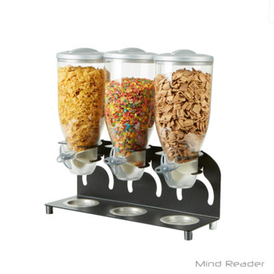 Mind Reader Metal Triple Cereal Dispenser