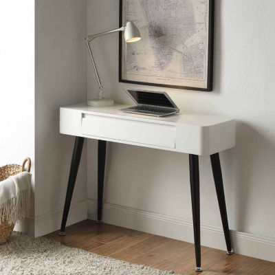 4D Concepts Edge Black & White Console with Drawer
