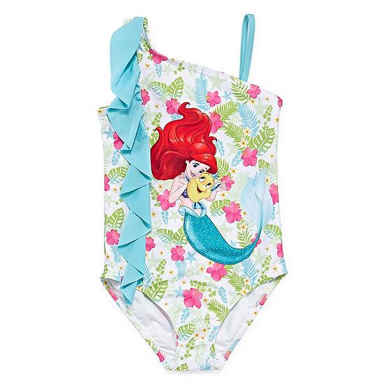 Disney Girls The Little Mermaid One Piece Swimsuit Preschool / Big Kid