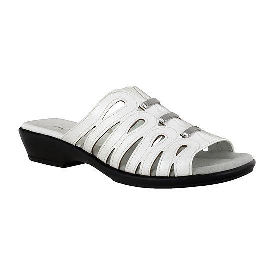 Easy Street Womens Petunia Slide Sandals