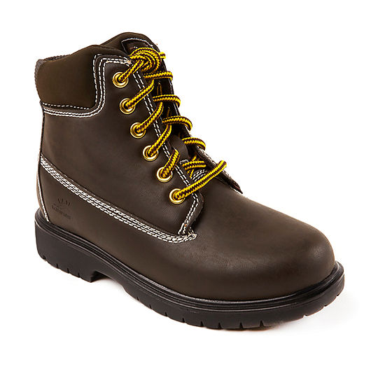 Deer Stags Little Kid/Big Kid Boys Mak2 Waterproof Insulated Work Boots Block Heel