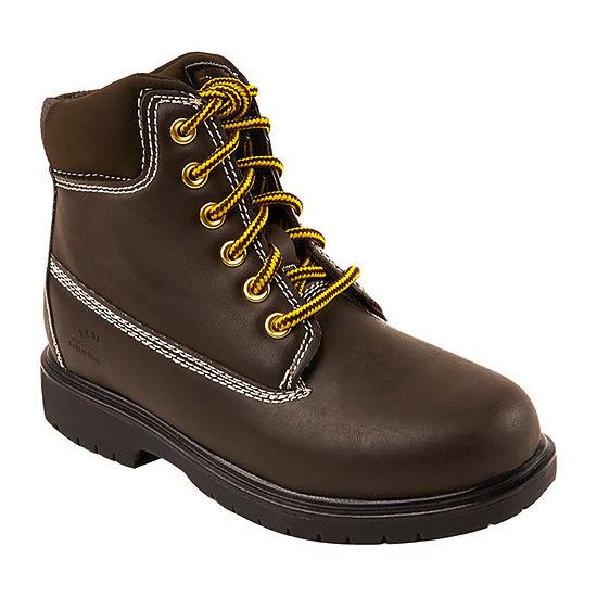 Deer Stags Little/Big Kid Boys Mak2 Waterproof Insulated Block Heel Work Boots