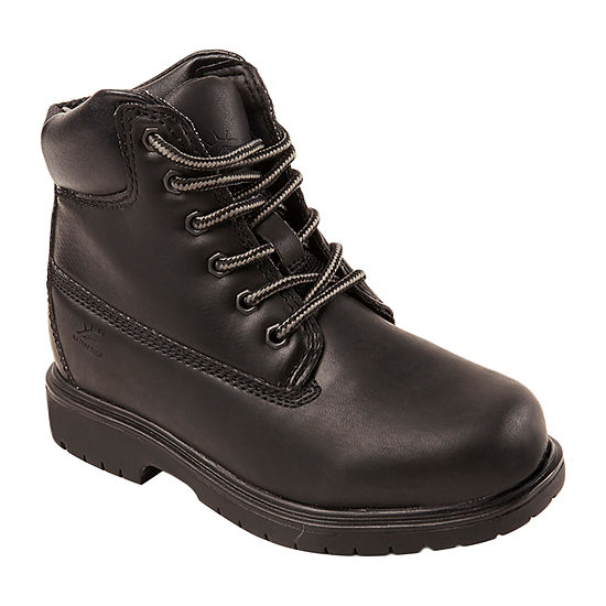 Deer Stags Little/Big Kid Boys Mak2 Block Heel Wide Width Waterproof Insulated Work Boots