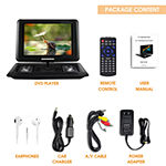 "Trexonic 15.4"" Portable DVD Player with TFT-LCD Screen and USB/SD/AV Inputs"