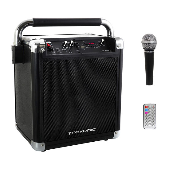 Trexonic Wireless Portable Party Speaker with USB Recording, FM Radio & Microphone