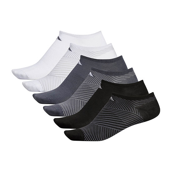 adidas 6 Pair No Show Socks Womens