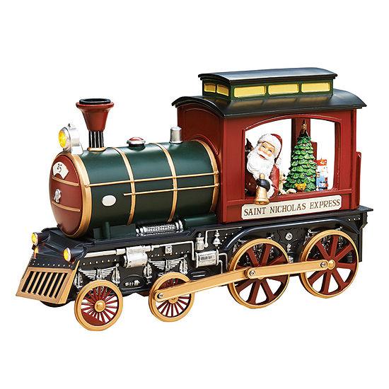 Roman Musical LED Train with Santa Figurine