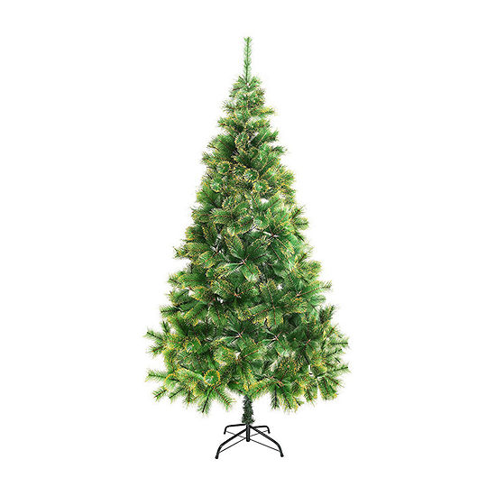 ALEKO Luscious Artificial Christmas Holiday Tree with Golden Tips
