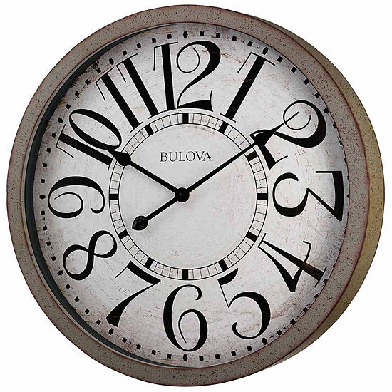 Bulova White Wall Clock-C4815