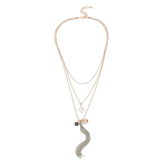 Nicole By Nicole Miller 17 Inch Pendant Necklace