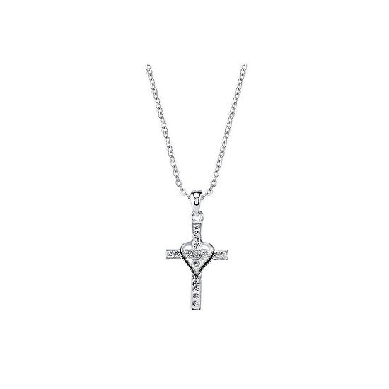 Sparkle Allure Crystal 18 Inch Cable Round Pendant Necklace