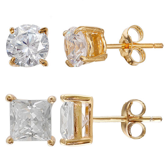 Gold Reflection Earring Set
