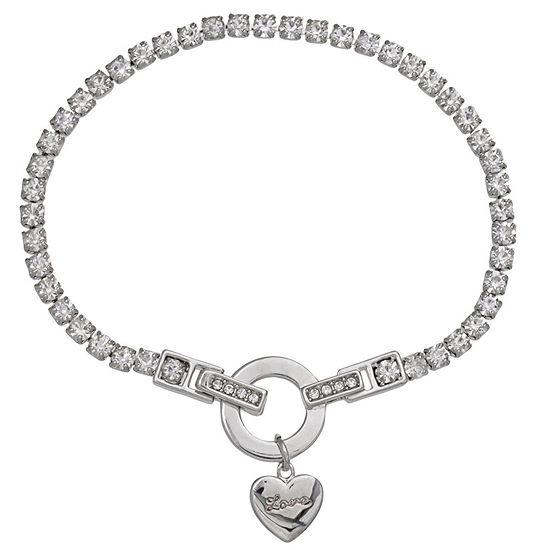 Sparkle Allure 7.5 Inch Heart Charm Bracelet