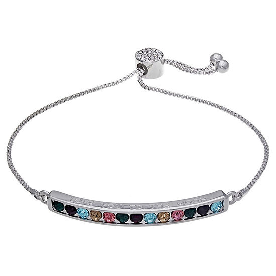 Sparkle Allure Multi Color 7.5 Inch Box Stretch Bracelet