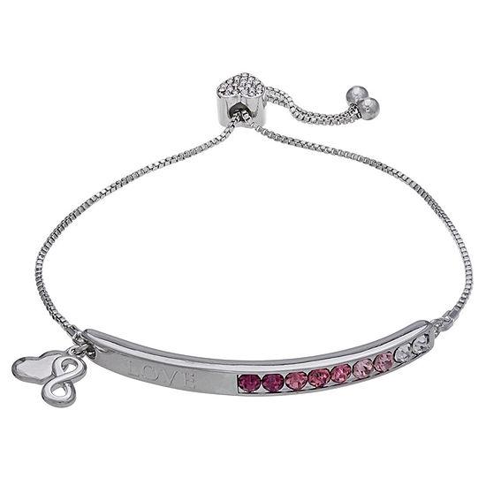 Sparkle Allure Pink 7.5 Inch Box Stretch Bracelet