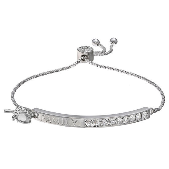 Sparkle Allure White 7.5 Inch Braid Stretch Bracelet