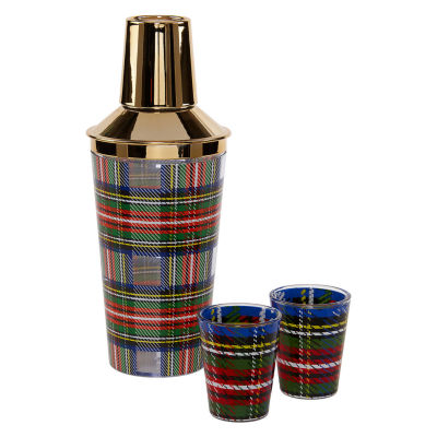 Mixit Adventure Plaid 3-pc. Shot Glass Set