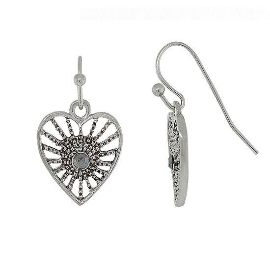 1928 Heart Drop Earrings