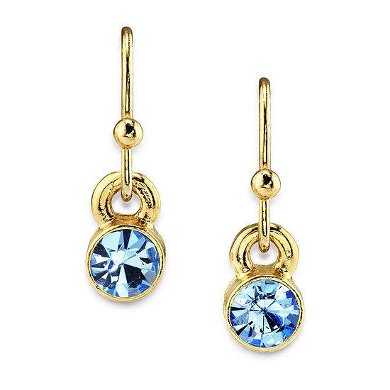 1928 14K Gold Over Brass Drop Earrings
