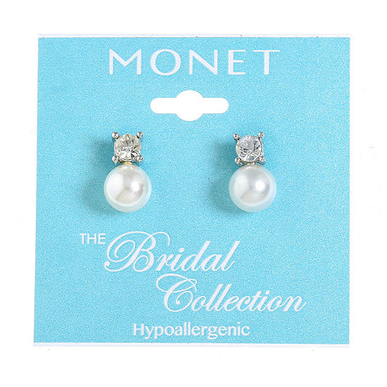 Monet Jewelry The Bridal Collection Simulated Pearl 15mm Stud Earrings