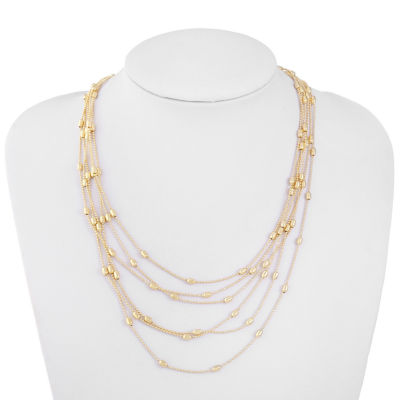 Liz Claiborne 18 Inch Cable Strand Necklace