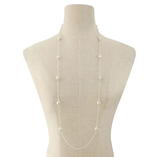 Liz Claiborne 38 Inch Cable Round Strand Necklace