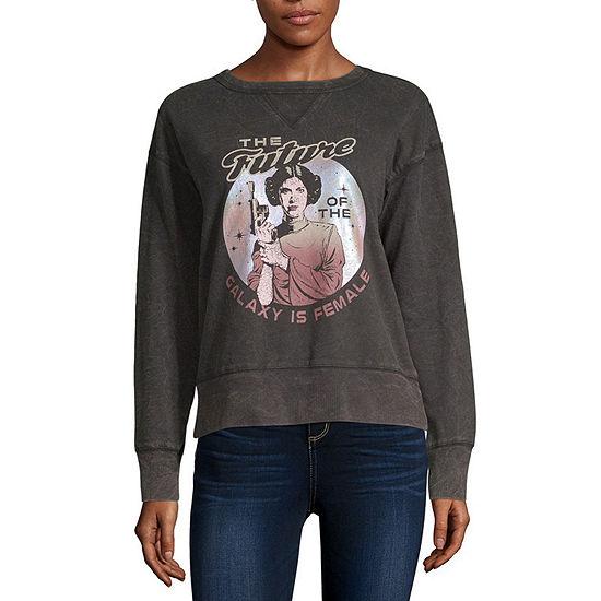 Juniors Womens Crew Neck Long Sleeve Star Wars Sweatshirt