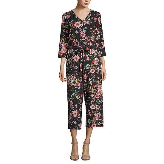 Weslee Rose 3/4 Sleeve Jumpsuit