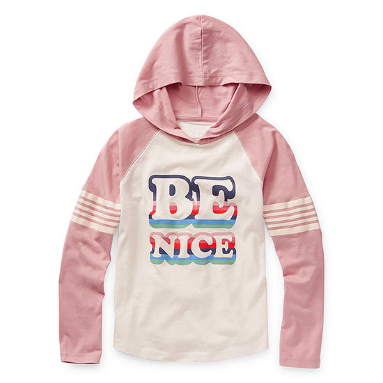 Arizona Little & Big Girls Raglan Sleeve Hoodie