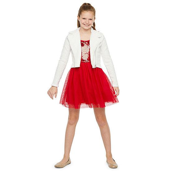 Knit Works Girls 2-pc. Jacket Dress