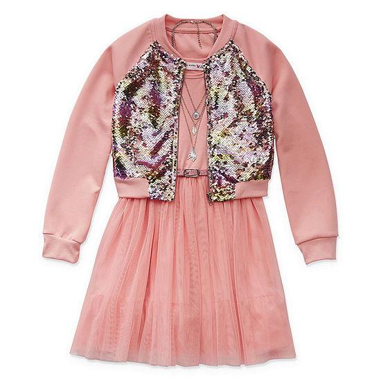 Knit Works Girls 2-pc. Jacket Dress - Big Kid