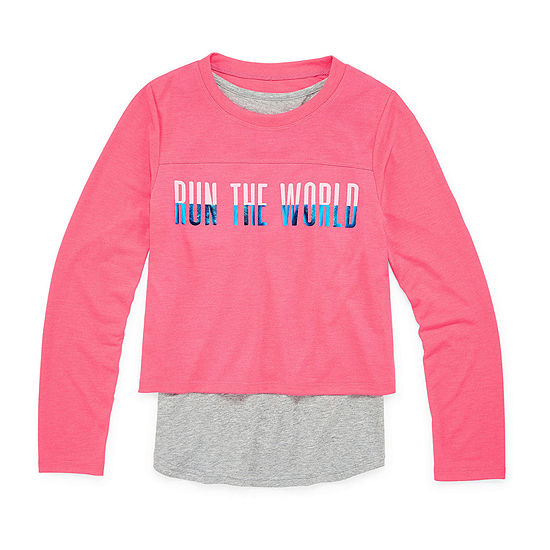 Xersion Little Kid / Big Kid Girls Crew Neck Long Sleeve Tunic Top