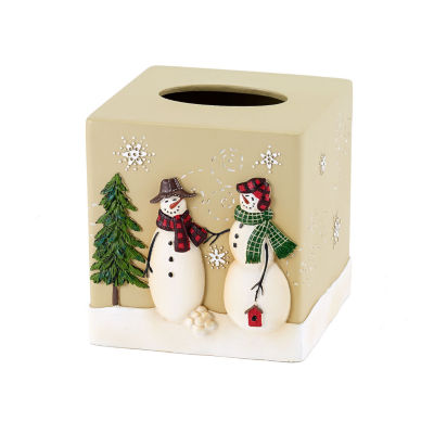 Avanti Snowmen Gathering Tissue Box Cover