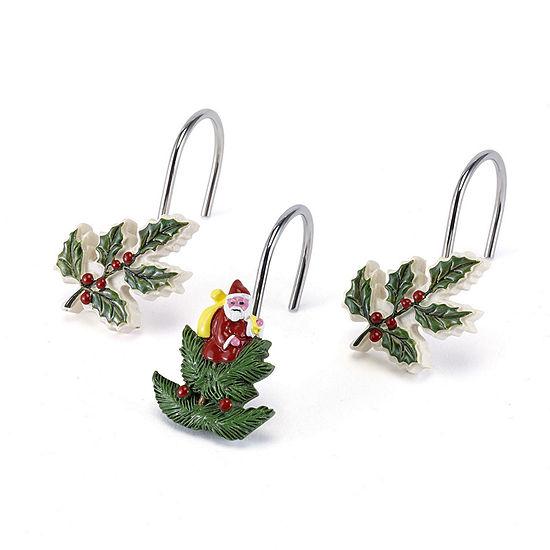 Avanti Spode Christmas Tree Shower Curtain Hooks