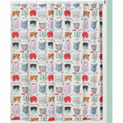 Kitty Shower Curtain