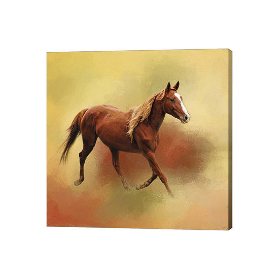 Metaverse Art A Dash Of Chestnut Mare Gallery Wrapped Canvas Wall Art