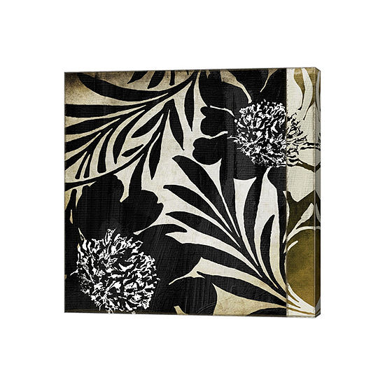 Floral Jungle Lines I Gallery Wrapped Canvas Wall Art On Deep Stretch Bars