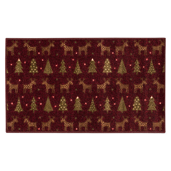 Brumlow Reindeer Printed Rectangular Indoor Rugs