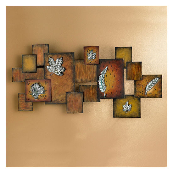 Leaves Abstract Panel Metal Wall Art