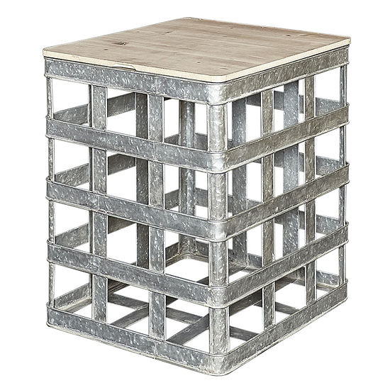 Lewis Galvanized Metal Side Table