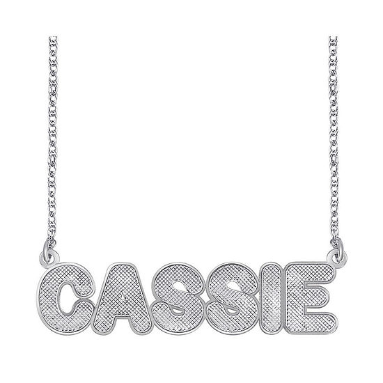 Personalized Sterling Silver Bold Name Necklace