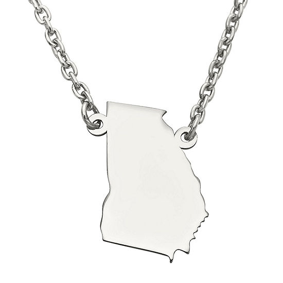 Personalized Sterling Silver Georgia Pendant Necklace