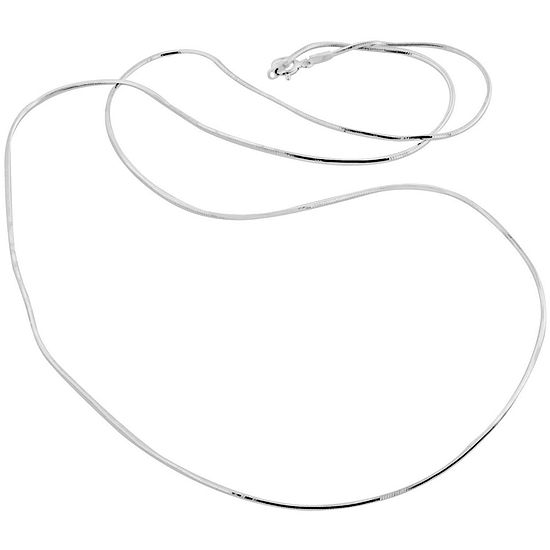 Made in Italy Sterling Silver 16 Inch Solid Snake Chain Necklace