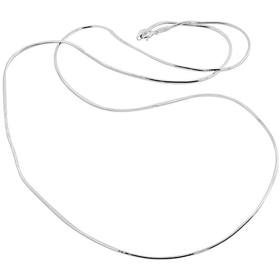 """Made in Italy Sterling Silver 20"""" 1.1mm Snake Chain"""
