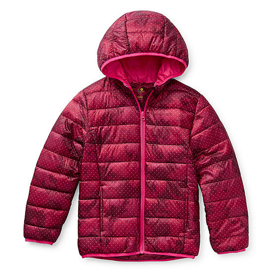 Xersion Girls Hooded Midweight Puffer Jacket