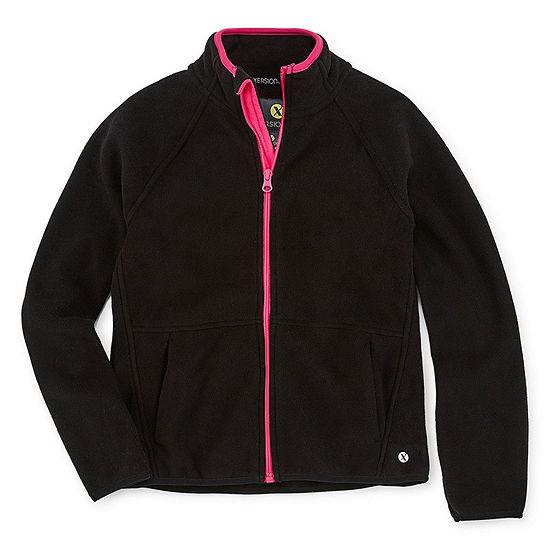 Xersion Girls Fleece Lightweight Jacket