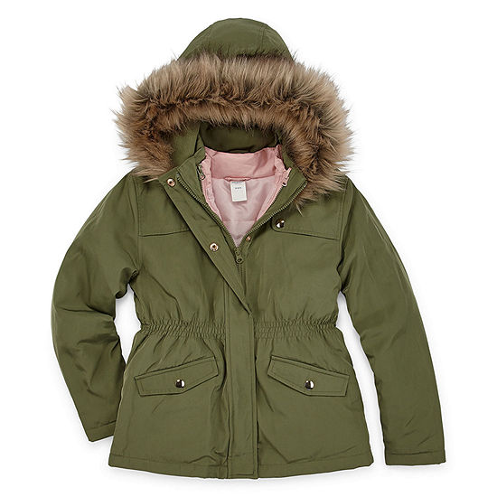 Arizona Big Girls Hooded Heavyweight Anorak