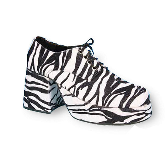 Platform Men's Shoe Zebra Costume Accessory